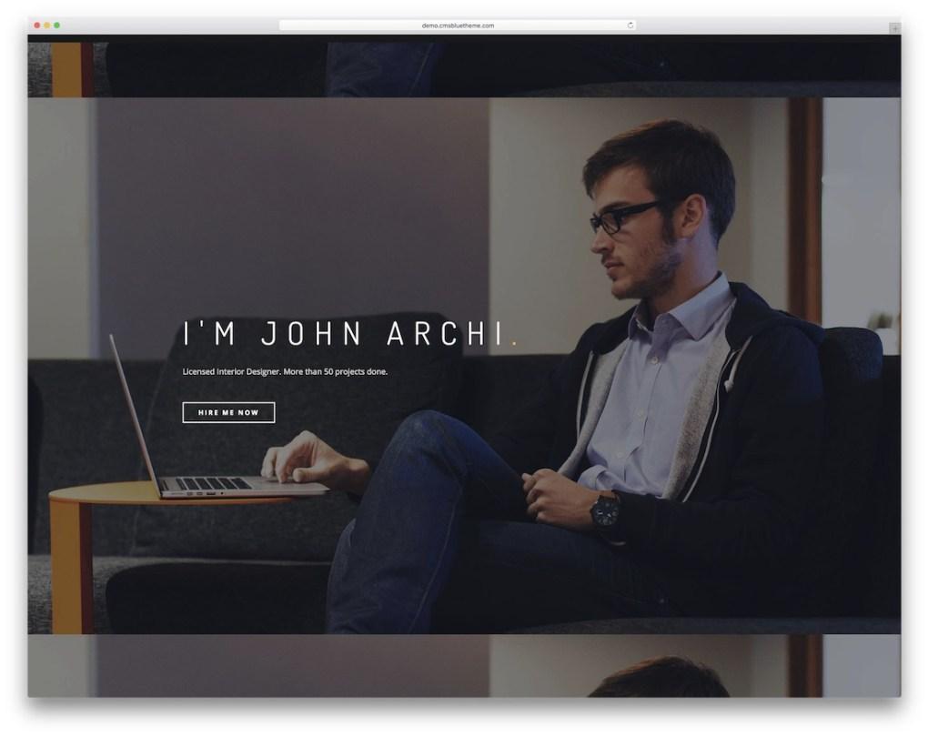 modèle de portefeuille joomla prêt pour mobile archi