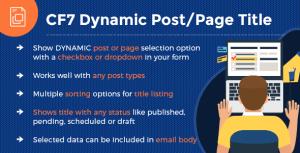 CF7 - Dynamic Post/Page Title