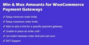 Minimum and Maximum Amounts for WooCommerce Payment Gateways
