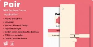 Pair | iOS Minimal Endless Game Application