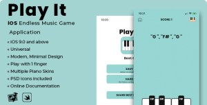 Play It | iOS Minimal Endless Music Game Application
