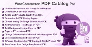 WooCommerce PDF Catalog Pro