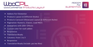 WooCommerce Products Layout for Elementor WordPress Plugin