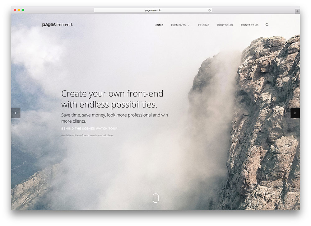pages-fullscreen-html5-portfolio-template