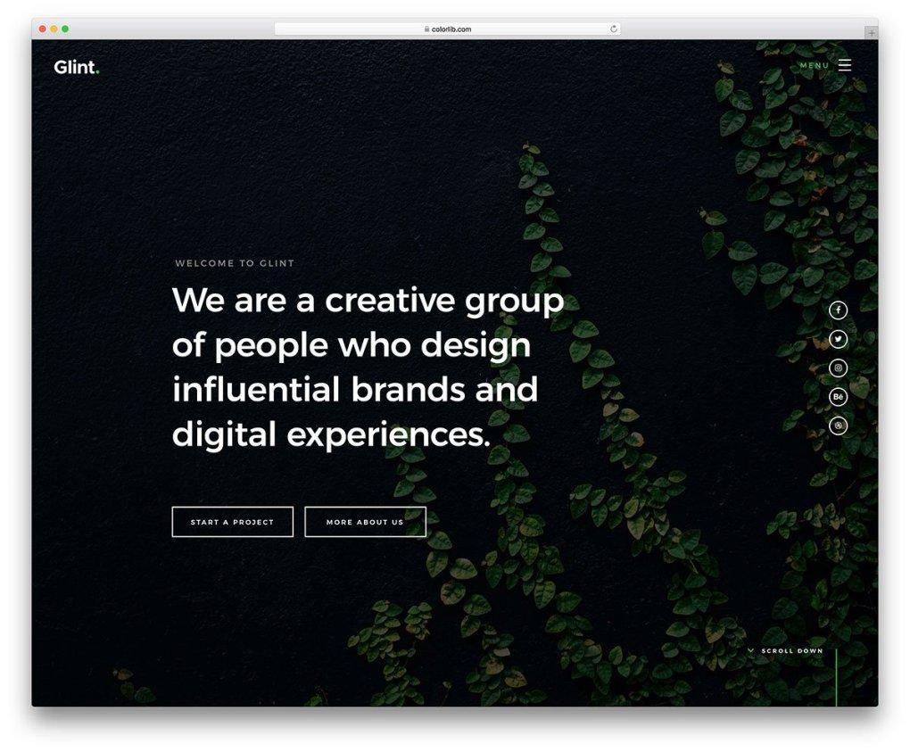modèle de site Web mobile gratuit brillant