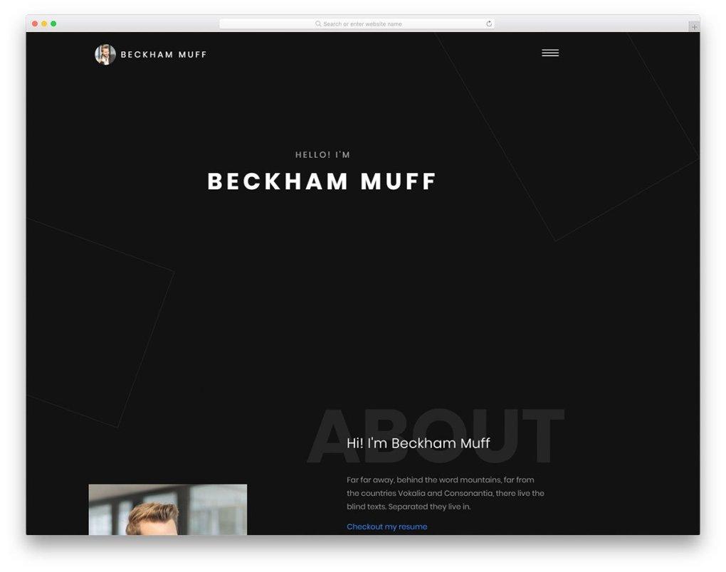 modèle gratuit Beckham