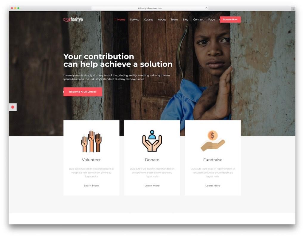modèle de site Web de l'église charityo