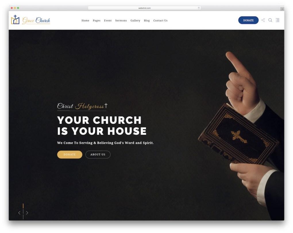 modèle de site Web de l'église de grâce