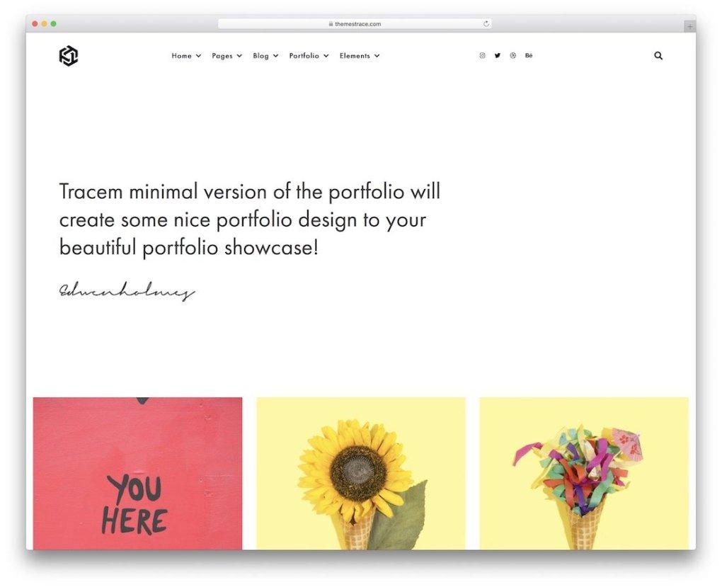 modèle de site Web de photographie tracem