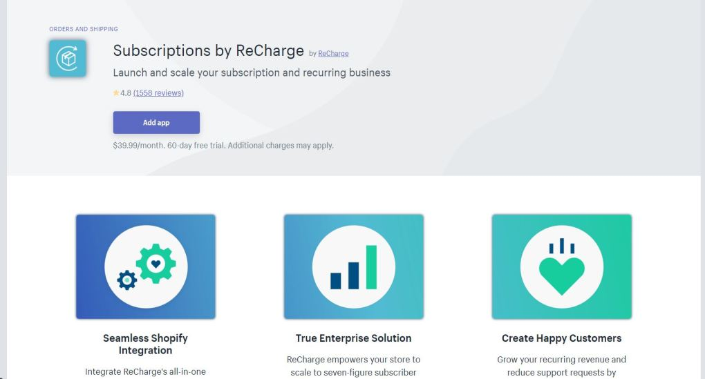 Recharger l'application Shopify