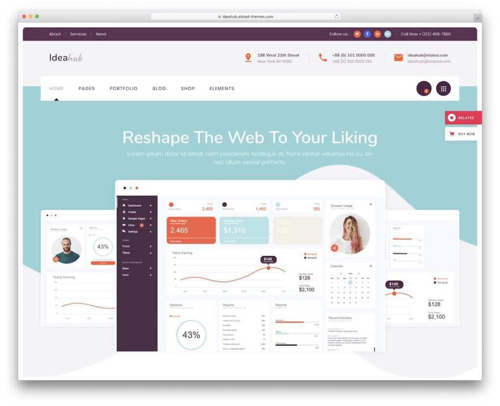 modèle de site Web ideahub