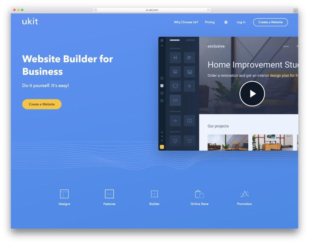 constructeur de site web ukit pour entreprise de construction