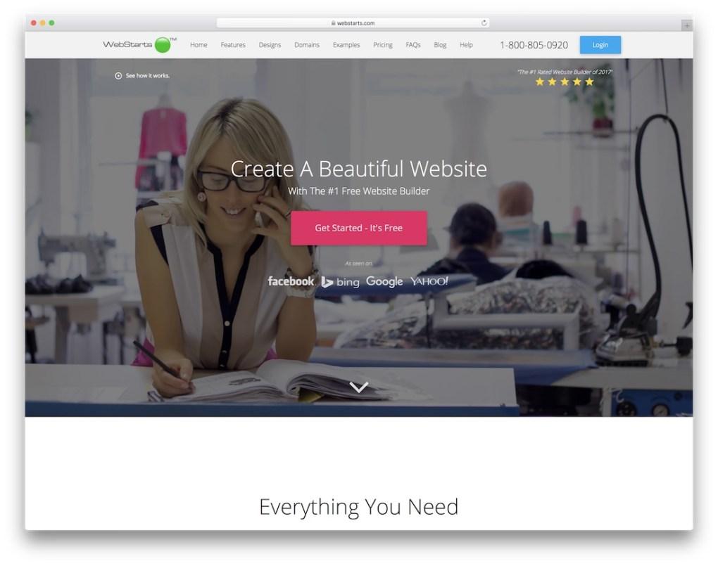 constructeur de site web webstarts pour entreprise de construction