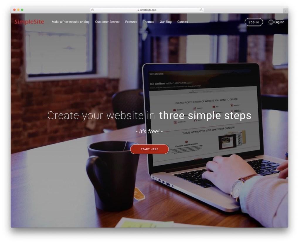 constructeur de site Web simplesite pour entreprise de construction