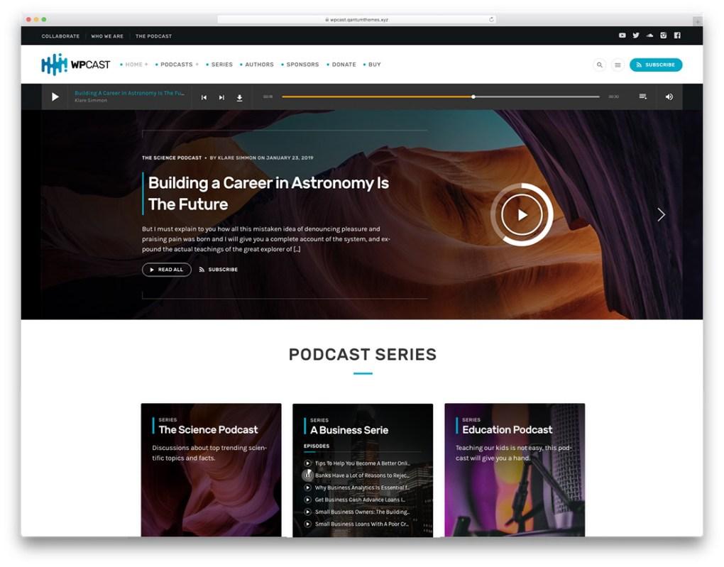 Thème WordPress pour podcasting
