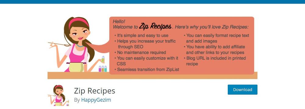 Recettes Zip