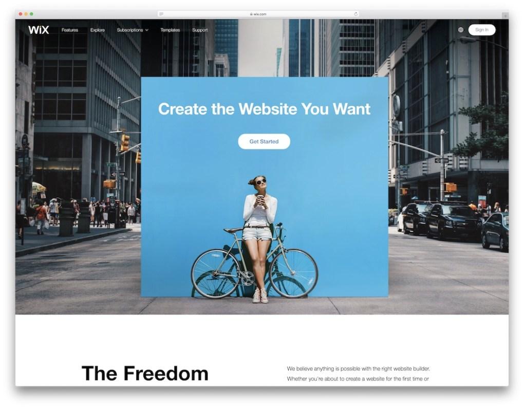 constructeur de site web wix pour entreprise de construction