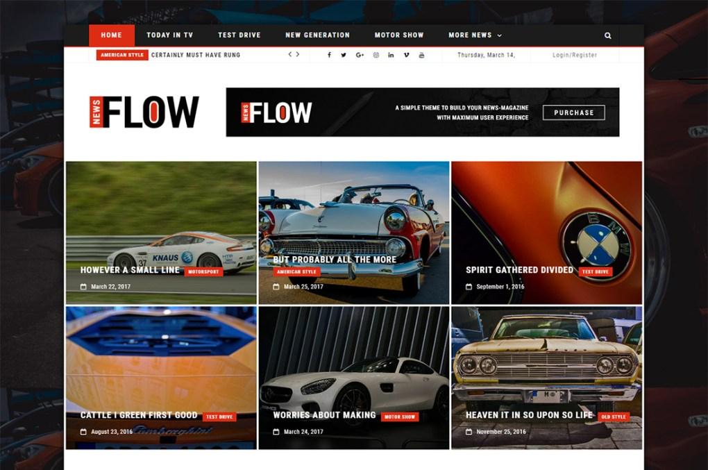 flux nouvelles voitures magazine thèmes wordpress