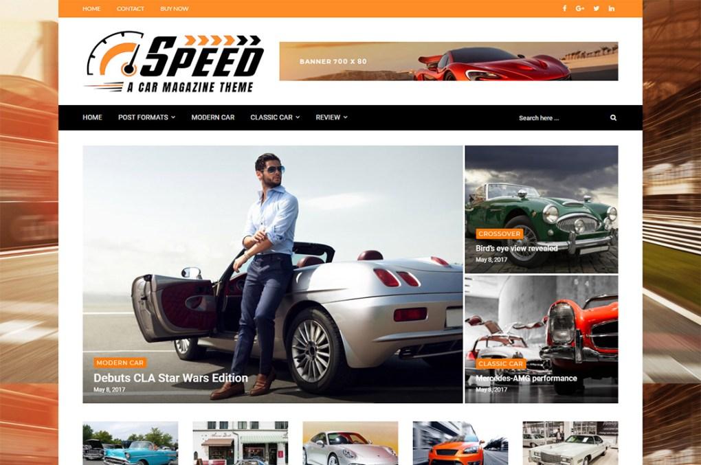Thèmes WordPress de magazine de voitures plus hautes