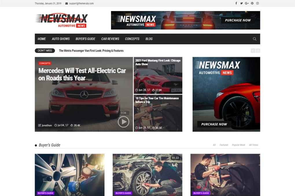 thèmes wordpress newsmax cars magazine