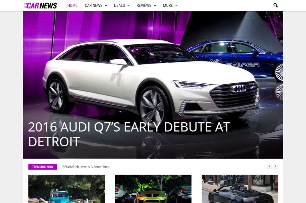newsmag cars magazine thèmes wordpress