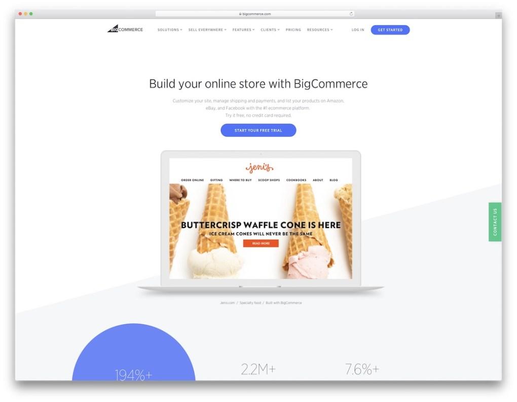 constructeur de site Web de commerce électronique bigcommerce