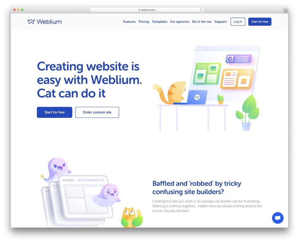 constructeur de site e-commerce pas cher weblium