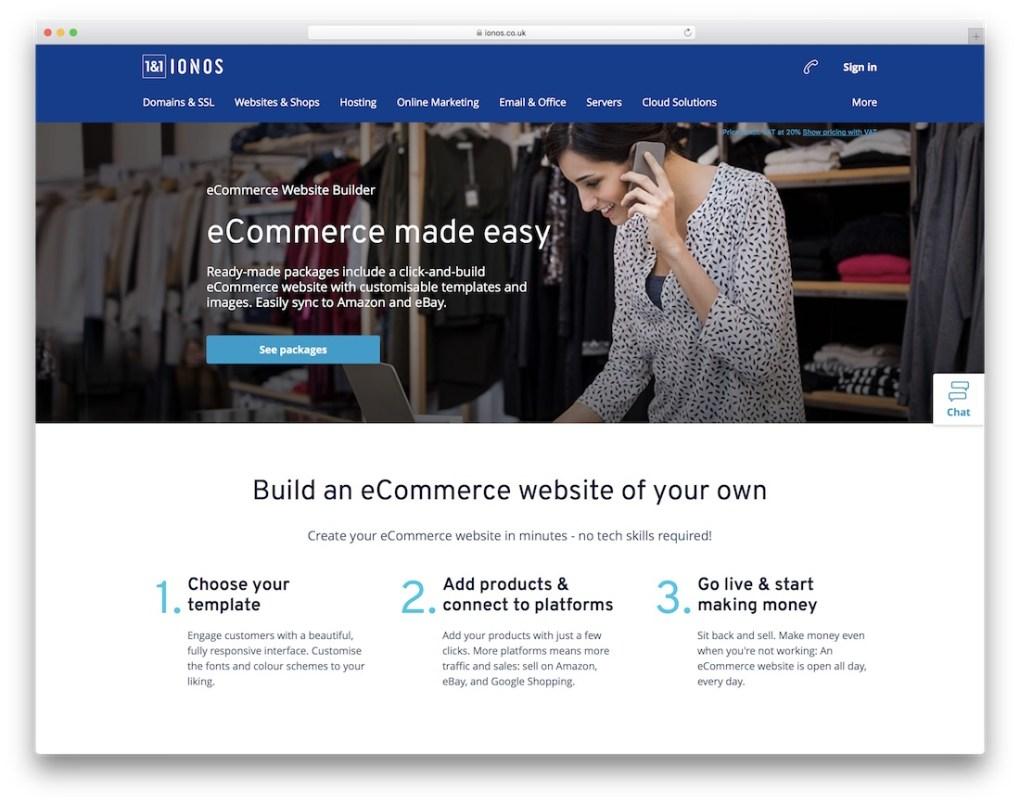 constructeur de site e-commerce pas cher ionos