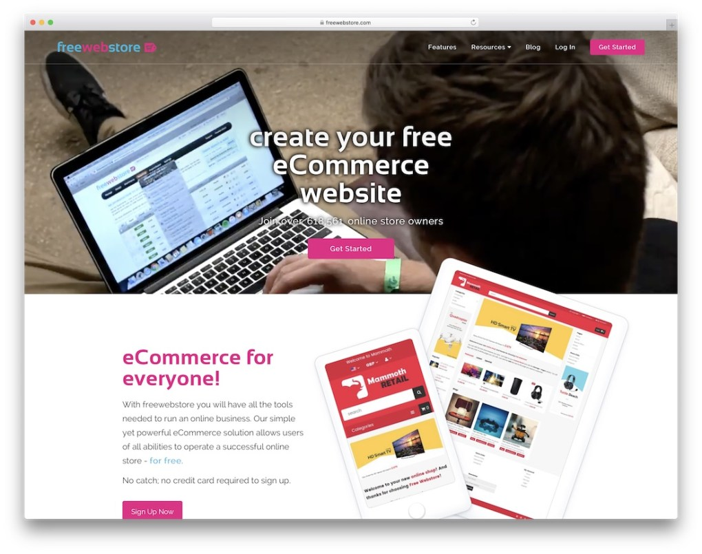 constructeur de site e-commerce pas cher freewebstore