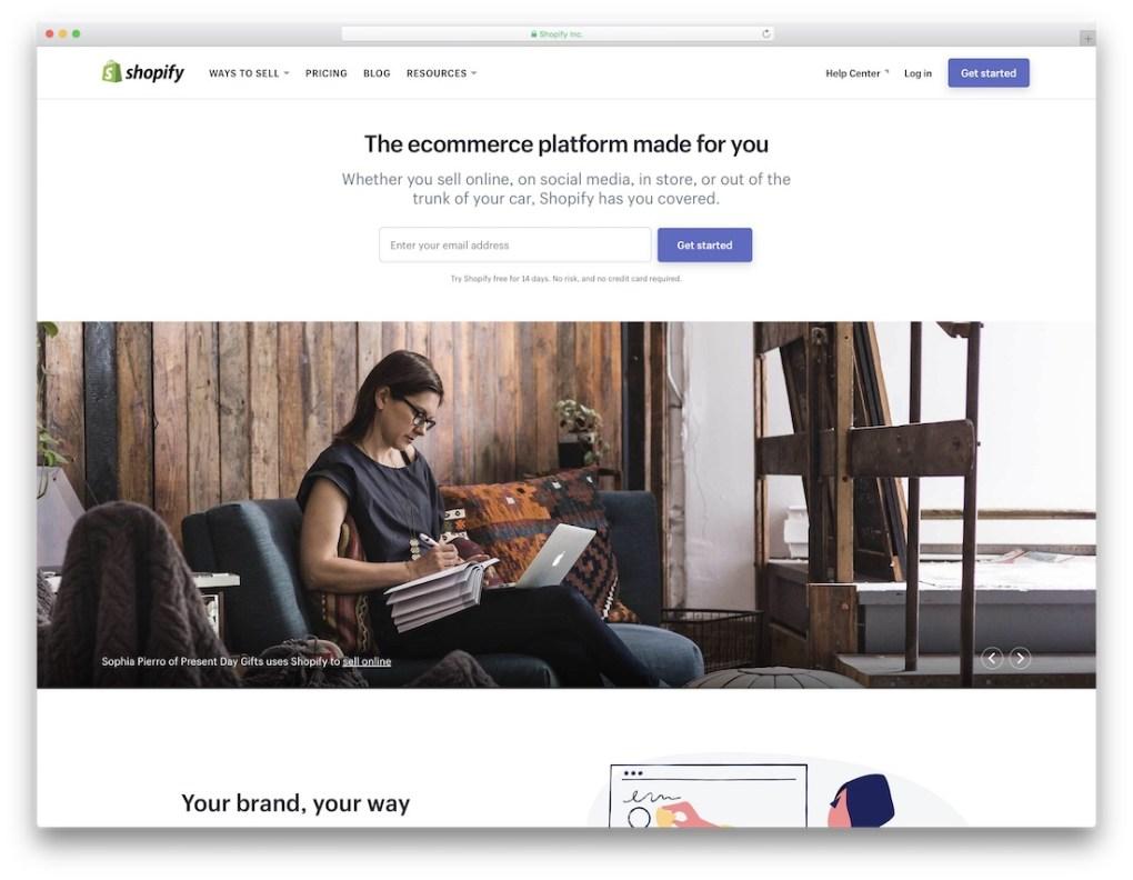 Générateur de site Web de commerce électronique à bas prix Shopify