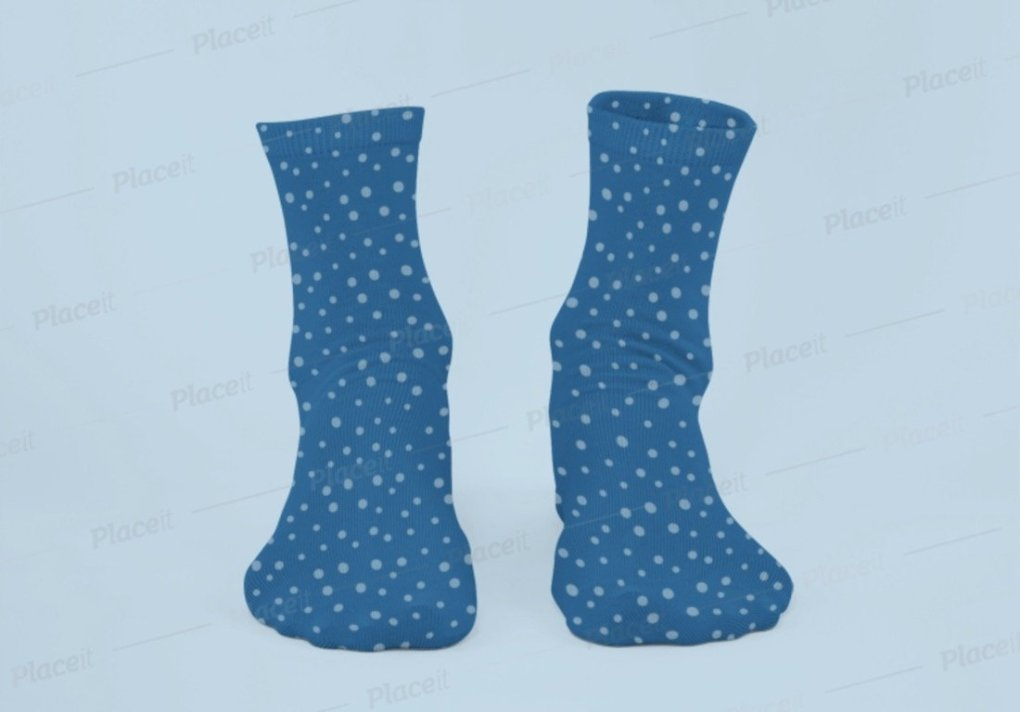 maquette fantôme d'une paire de chaussettes sublimées avec fond personnalisable