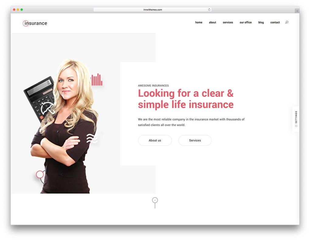 Thème d'assurance WordPress