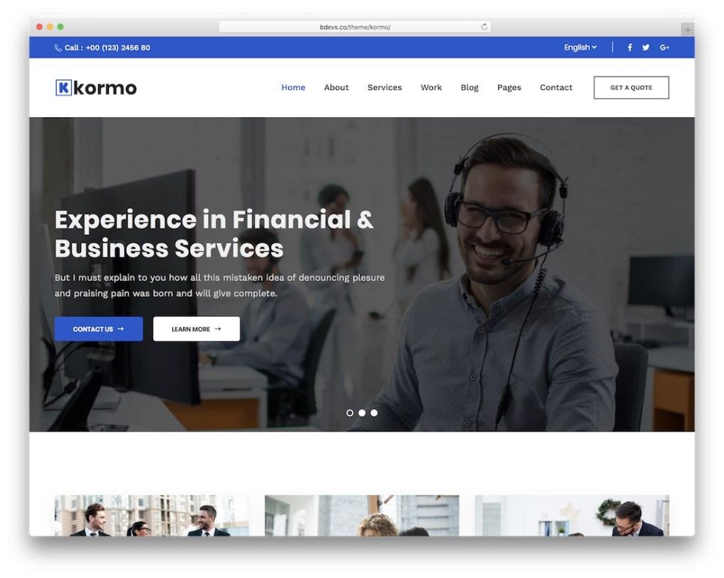 Thème d'assurance Winnex WordPress