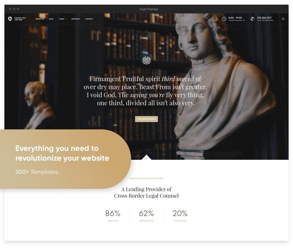 thème wordpress révolution cabinet d'avocats