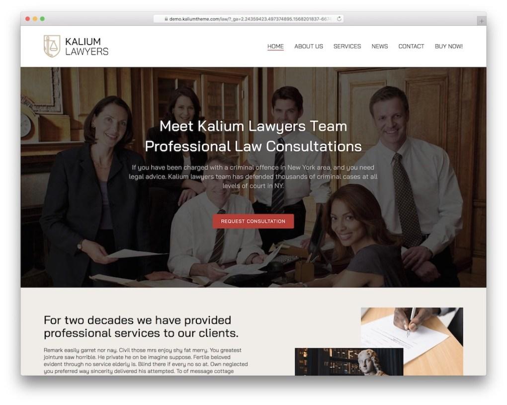 thème wordpress kalium avocat