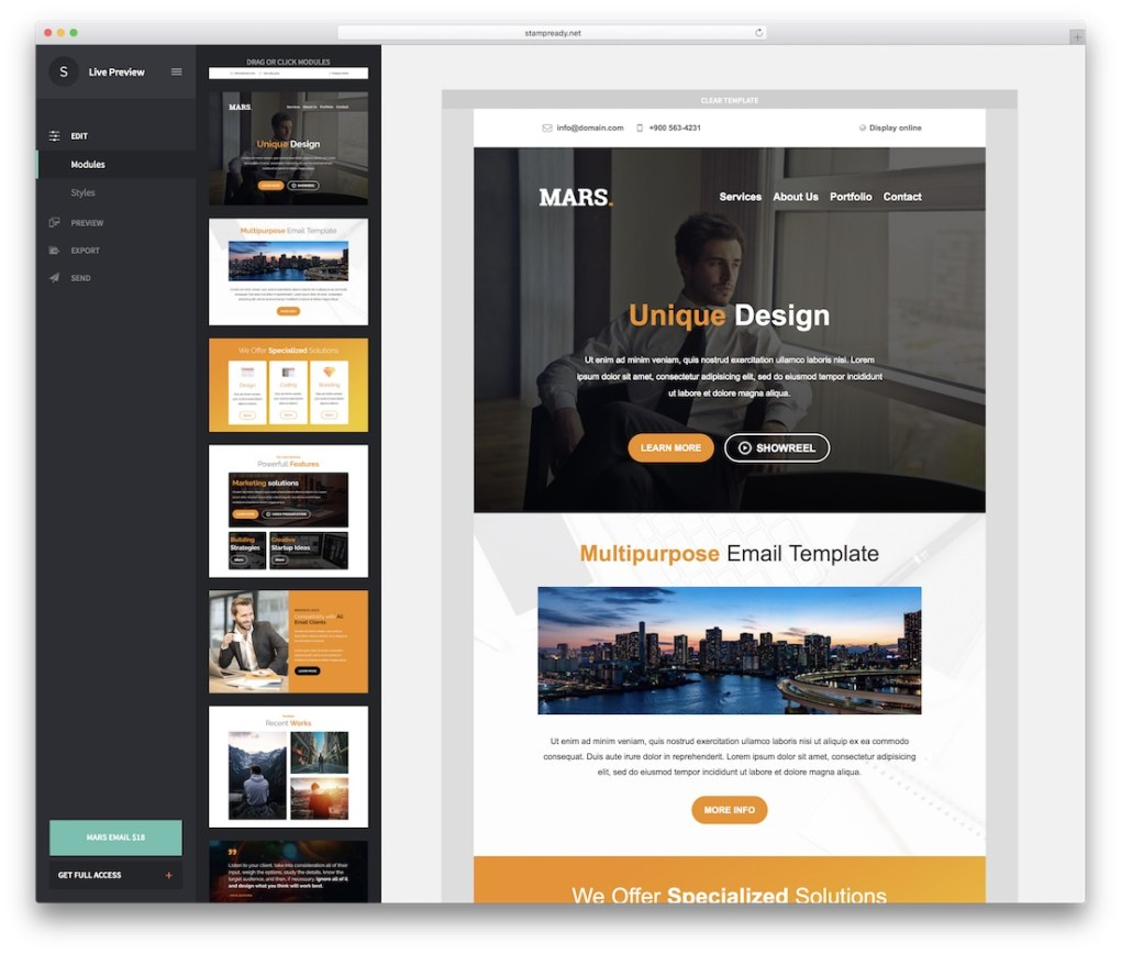 mars responsive html email template
