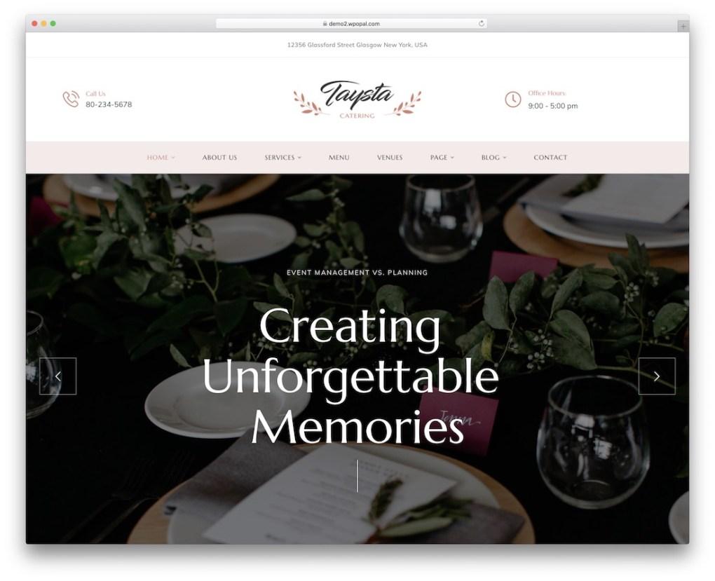 thème wordpress taysta pour petites entreprises
