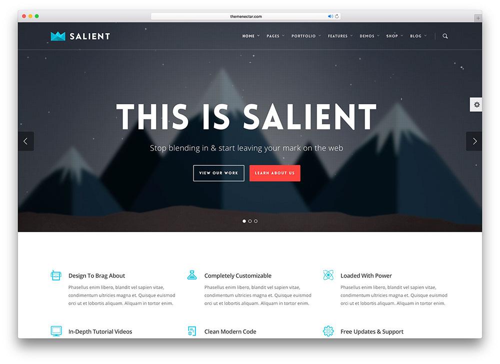 salient - flat design theme