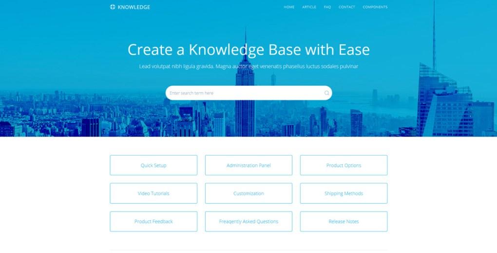 modèles de forum de connaissances