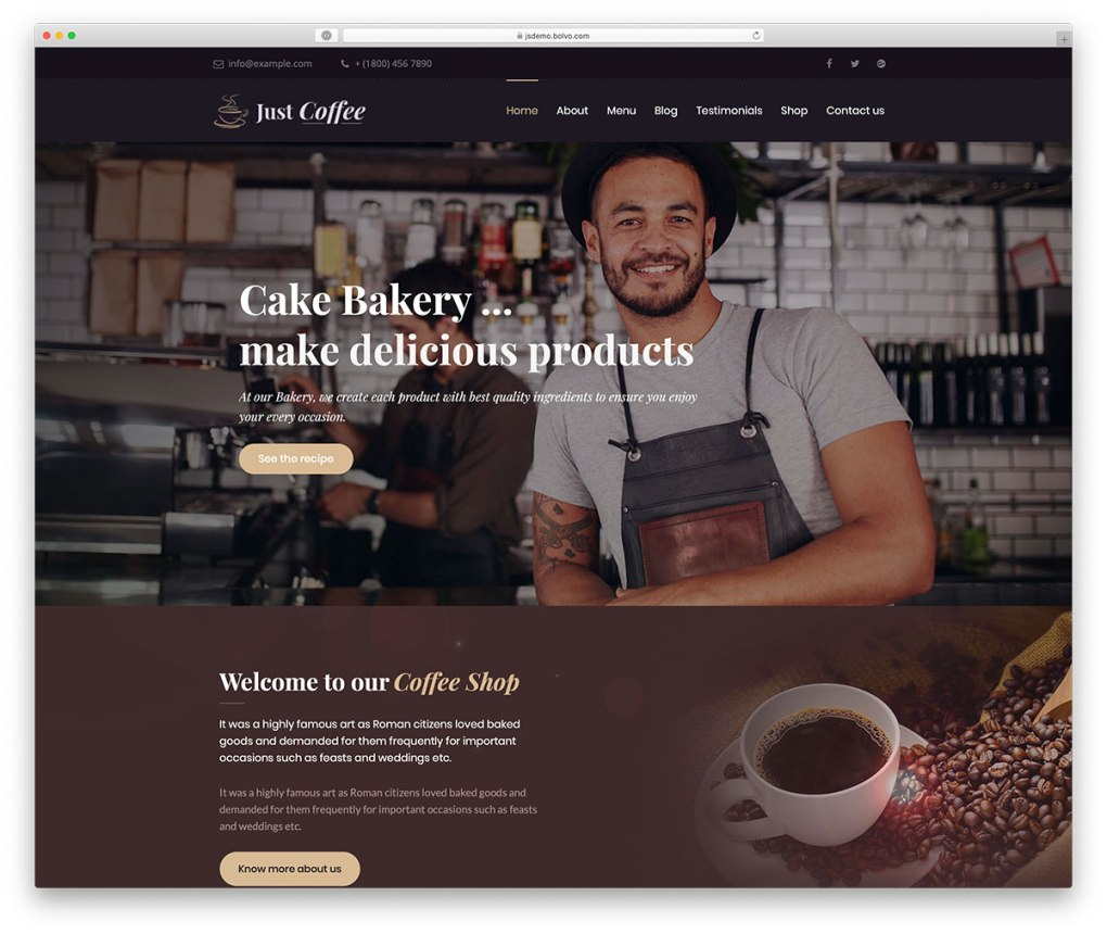 café et thème barista WordPress