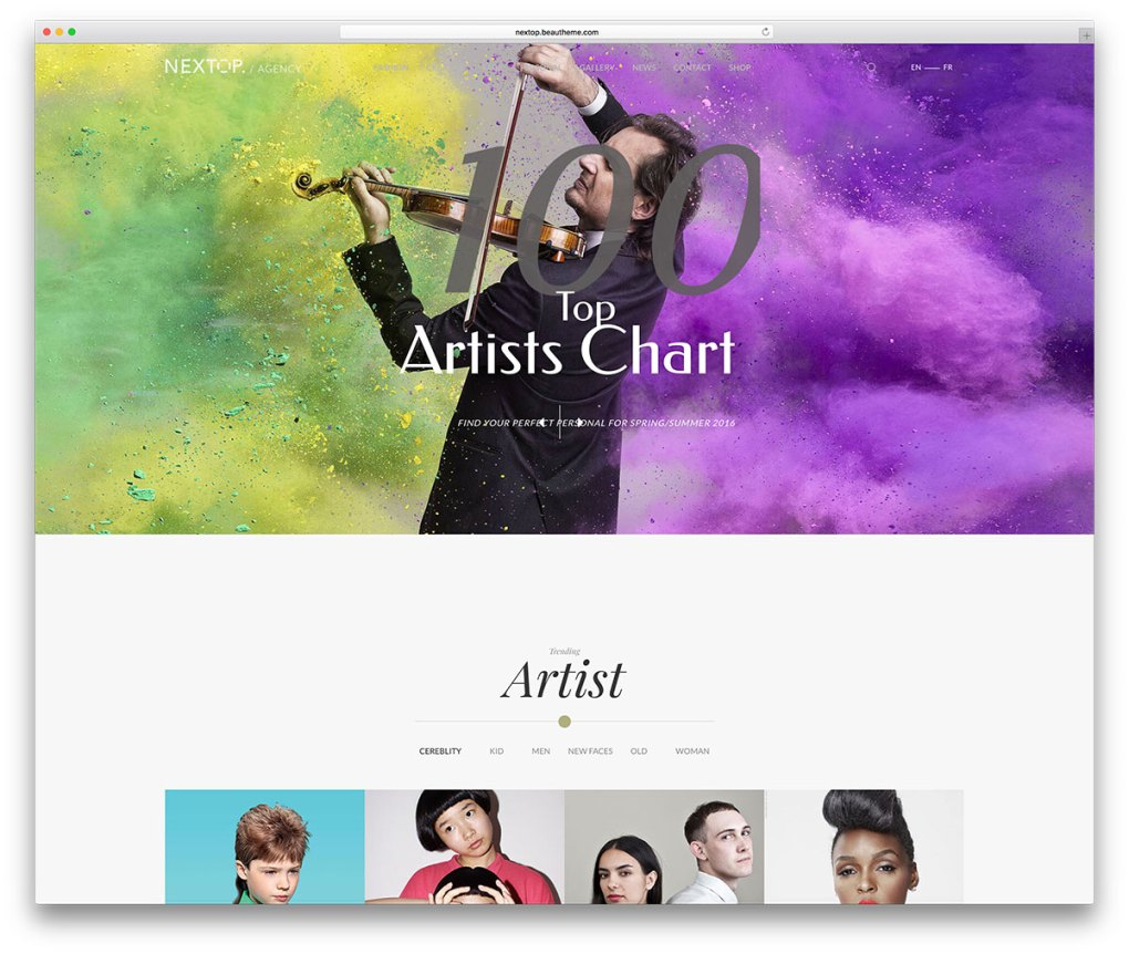 nextop-minimal-theme-for-artists