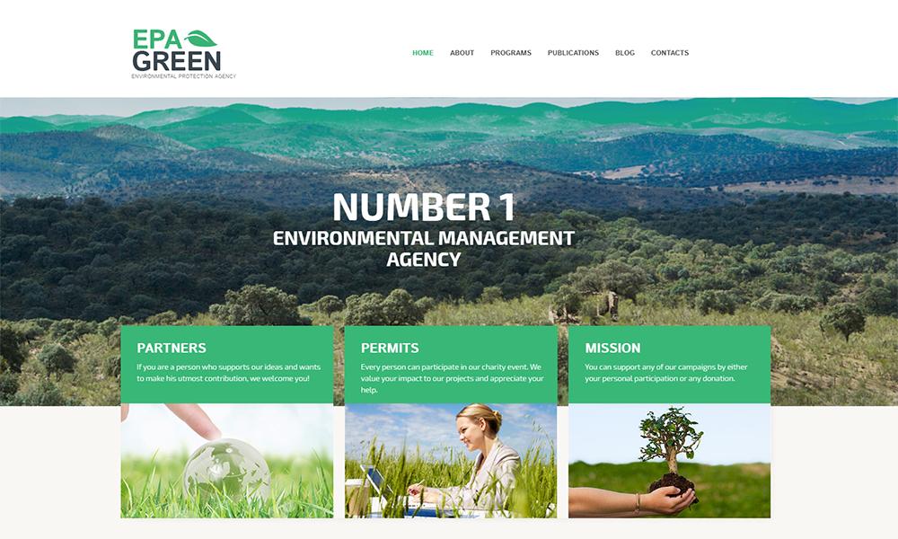 Thème WordPress pour Agence de protection de l'environnement