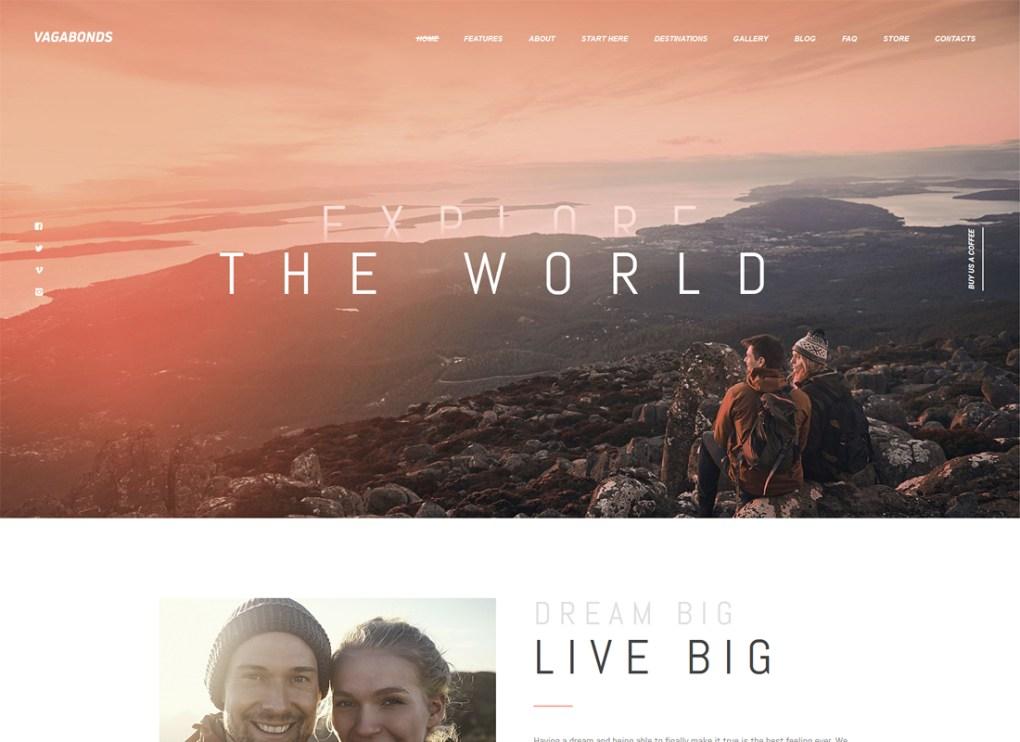 Vagabonds | Thème WordPress pour le blog personnel de voyage et de style de vie