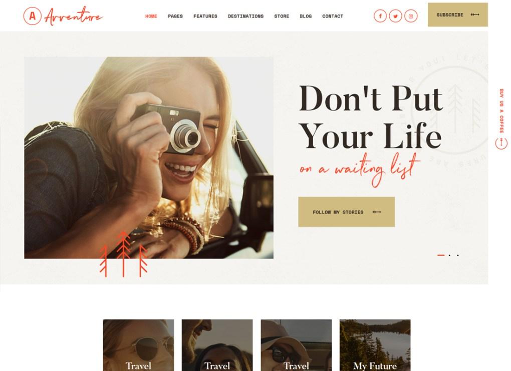 Avventure | Thème WordPress pour le blog personnel de voyage et de style de vie