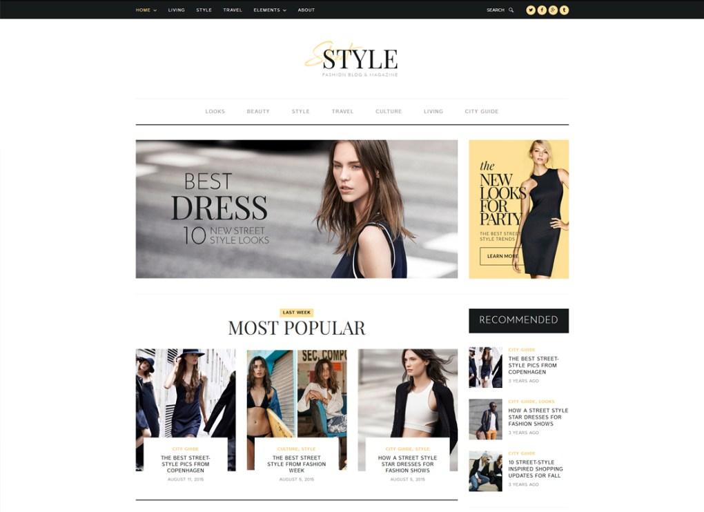 Style de rue | Thème WordPress pour blog personnel mode et style de vie