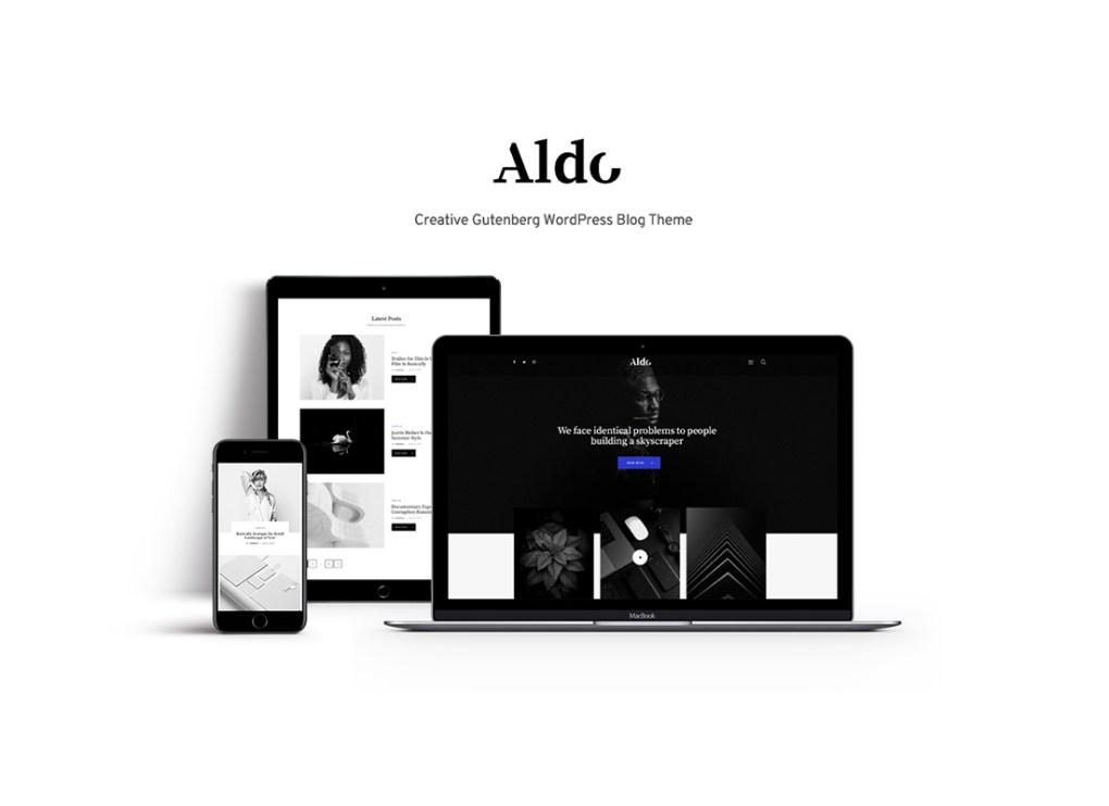 Aldo | Thème WordPress pour le blog Gutenberg