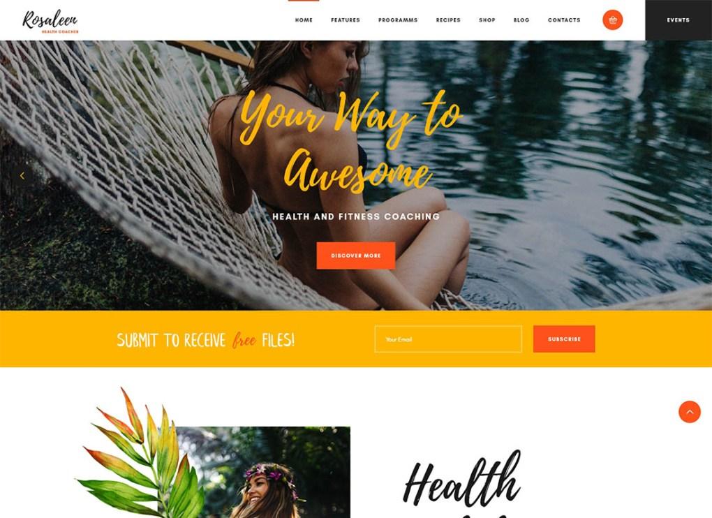 Rosaleen - Coach de santé, conférencier et thème WordPress pour la motivation