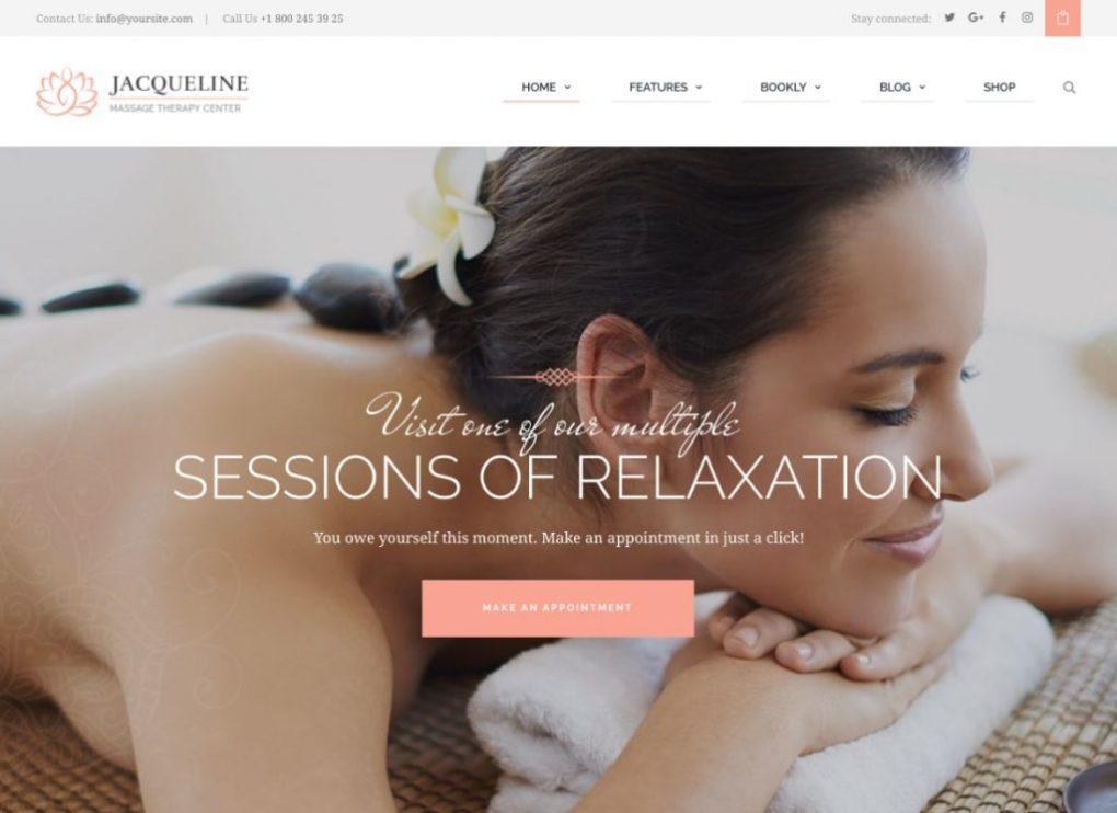 Thème WordPress pour spa et salon de massage