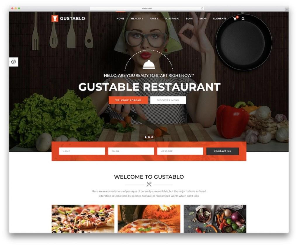 thème gustablo restaurant et café wordpress