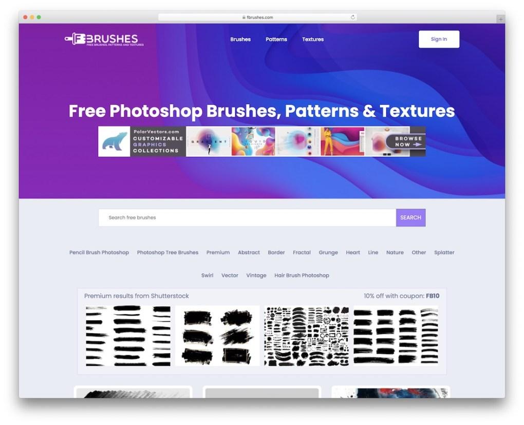 textures de motifs de brosses Photoshop gratuites